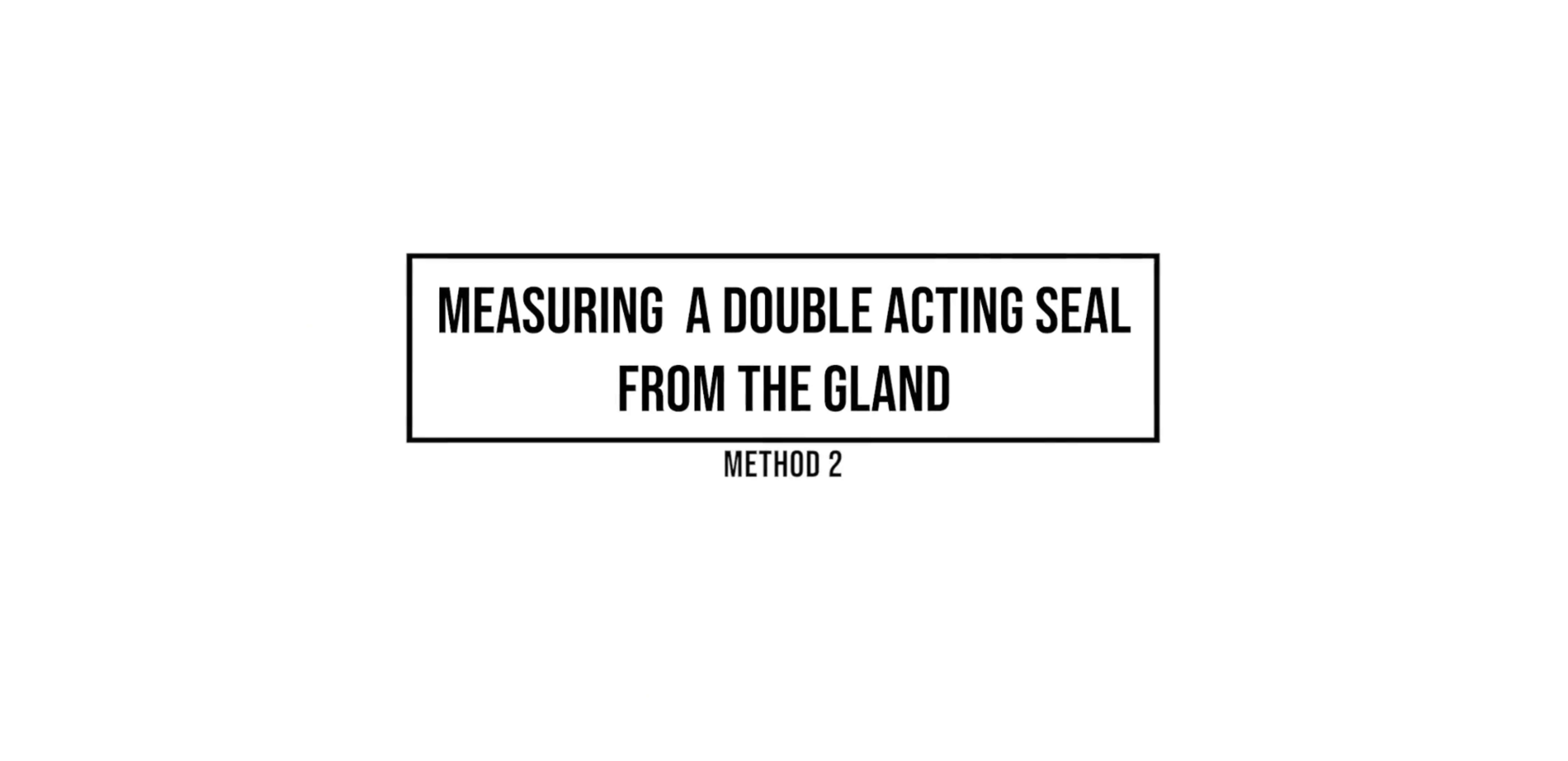 Double Acting Seal